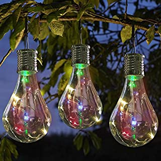 IGEMY Waterproof Solar Rotatable Outdoor Garden Camping Hanging LED Light Lamp Bulb