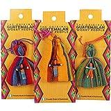 Petit s'Guatémaltèque Personnes Poupée et sac de transport-Couleurs assorties