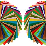 Anpro 80 Filzplatten Bastelfilz Filzstoff Filz Blätter Polyester Felt für DIY Handwerk, Basteln, 15 * 15cm