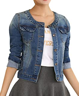 RED WAGON Girls Collarless Denim Jacket