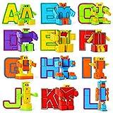 Mymiyou Alfabeto de juguete de aprendizaje educativo Robot figura regalo para los niños...