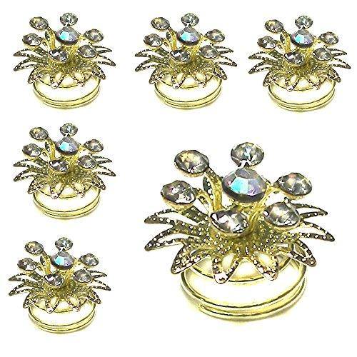 6 curlies curlie spirale à cheveux barrette à noeuds pince épingle à cheveux floraison fleur perle strass Modell 18