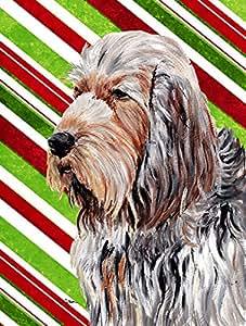 Caroline 's Treasures sc9804chf Otterhund Zuckerstange Weihnachten Flagge Leinwand, groß, multicolor