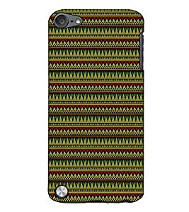 Fuson Designer Back Case Cover for Apple iPod Touch 5 :: Apple iPod 5 (5th Generation) (Green Designer pattern)