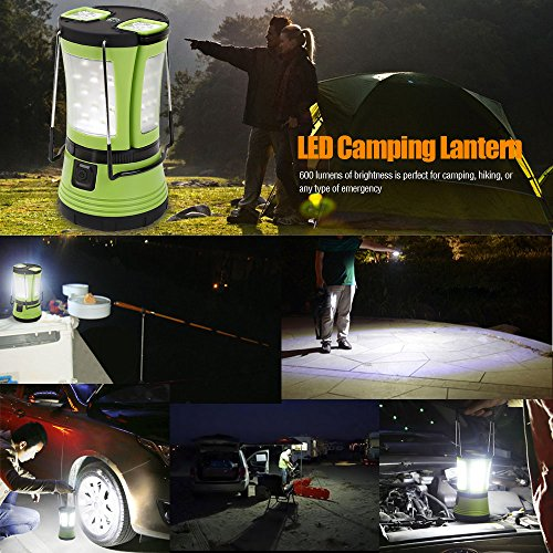 61nbPNyqqXL. SS500  - LE LED Camping Lantern with 2 Detachable Torches, USB Rechargeable and Battery Operated, 600 Lumen Tent Light, Outdoor Searchlight for Emergency, Hiking, Fishing, Power Cuts and More