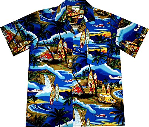 "Hawaiihemd / Hawaiishirt ""Beach Time"", 100% Baumwolle, Größe ()"