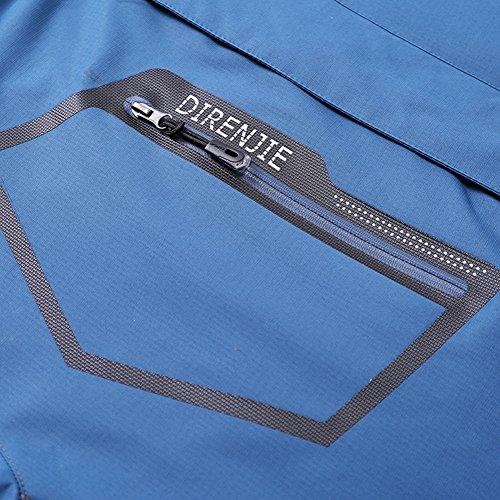 Mochoose Uomo Outdoor Mountain Impermeabile Windbreaker Softshell Giacche con Cappuccio Sci Sportwear Rain Coat Campeggio Pesca Caccia Working Jacket Army Green