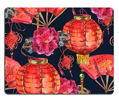 luxlady Gaming Mousepad Bild-ID: 34356455nahtlos Watercolor Chinese New Year Hintergrund