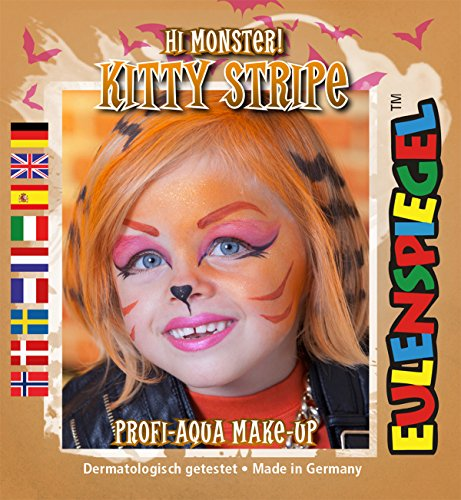 Kitty Stripe Hi Monster ! Profi-Aqua Make-up Halloween Kinderschminke (Halloween Kitty Make-up Für Kinder)