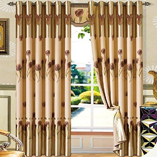 tende della finestra baia americani filati panno ombra finito vetrate moderno giardino camera da letto (Finito Giardino)