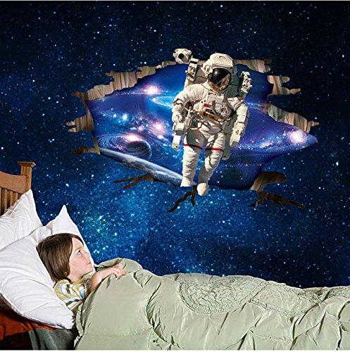 Wandtattoo Wandbild Wandsticker Kosmos Galaxie Universum Space Planet 3D 123