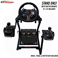 GT Omega Support de volant avec supports de levier de vitesses V1 et V2 pour Logitech G923 G29 G920 Thrustmaster T500…