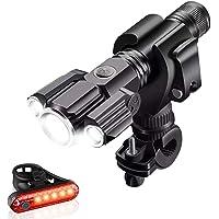 TTWEN Luci per Bicicletta Set, Luci Bici Ricaricabili USB Luce Bici Anteriore e Posteriore Super Luminoso e Impermeabile…
