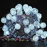 Stringa di luci Natale, Impress Life Decorative Luci 10ft (3m) 30 LED , Batteria Operata per Indoor & Outdoor Décor, Luce di nozze, Backyard Luce, Luci Decorazione di Natale (Palla di ghiaccio)