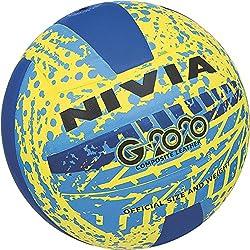 Nivia G2020 volleyball, size 4( Yellow/blue)