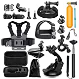 Cammate - Kit di accessori action cam per GoPro Hero 5 Hero 4 GoPro Hero Session Hero 3 Akaso EK7000 EK5000 Apeman A80 A70 Accessories Kit for Apeman
