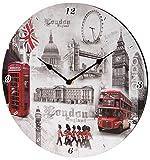 "London England Scene Wall Clock - 12"" Diameter"