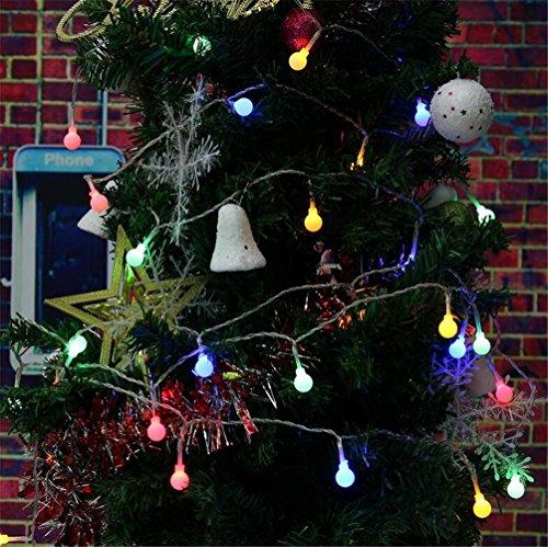 W-ONLY YOU-J LED-Leuchten String Weihnachtsbaum Dekoration Lichter Serie Urlaub Startseite Indoor Halloween 5M 8 Funktion 40 Kopf führte Matte White Ball , color