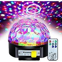 Besmall 20W Bola LED RGB de DJ Discoteca Estroboscópico Música SD MP3 + Mando Controlar-XRDT13-OZ