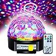 Besmall RGB LED USB Mp3 Discokugel Licht mit Fernbedienung für Ferien DJ Disco Ballsaal KTV Stab Stadium Club USB Sticker Beleuchtung Projektor Kristall Magic Ball Partylicht