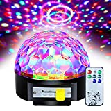 Besmall 20W Sfera Proiettore Luce LED Palla Girevole RGB Stroboscopica Fase Discoteca DJ Crystal Stage Magic Ball con USB Musica MP3