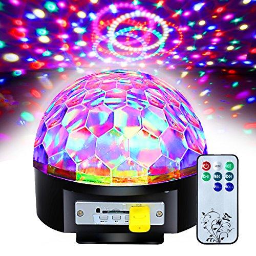 Besmall 9W Proiettore Luce LED Proiettore Disco Effetti Multicolore RGB LED Sfera Magic Luci Con Telecomado per Festa Discoteca