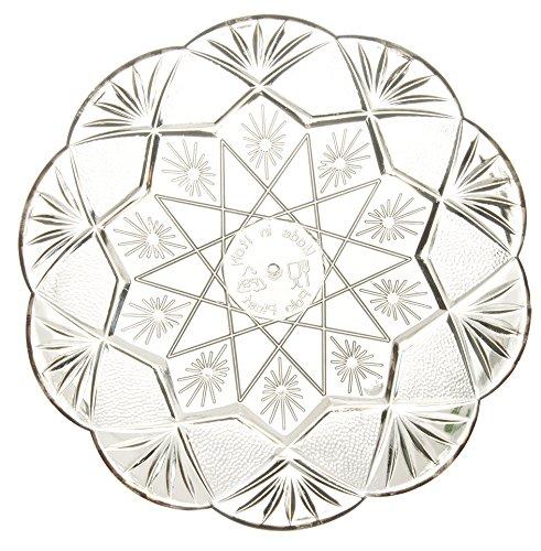 �cm rund Einweg Kunststoff Dessert/Kuchen Teller–Stück, plastik, farblos, 24 cm (Klar, Platten Bulk)