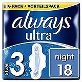 Always Ultra Night Binden (mit Flügeln) Größe:3, 1er Pack (1 x 18Stück) -