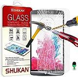 LG G3 Tempered Glass Crystal Clear LCD Screen Protector Guard & Polishing Cloth GSVL37 BY SHUKAN®, (LG G3)