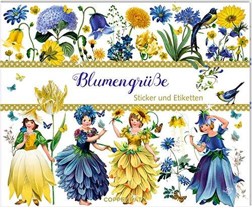 Stickerbuch - Blumengrüße - Edition Barbara Behr: Sticker und Etiketten par