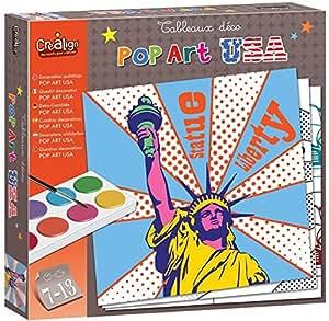Créa Lign' - Cl103 - Tableau - Déco Pop Art Usa