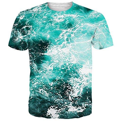 NEWISTAR Unisex Jugend 3D Druck Grafik Casual Kurzarm T-Shirt T-Shirts - Lowe Shirt