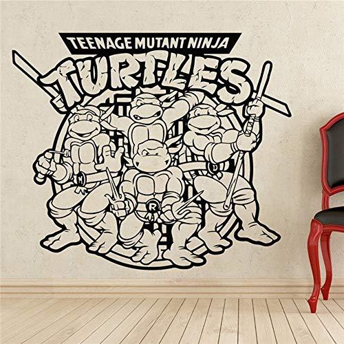 Wandtattoo Schlafzimmer Comics Kunst Zeichentrickfiguren Teenage Mutant Ninja Turtles Wandtattoo Aufkleber Dekoration