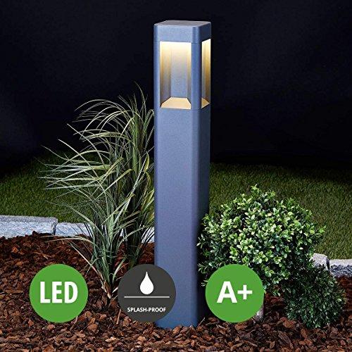 LED Außenleuchte Annika (spritzwassergeschützt) (Modern) in Schwarz aus Aluminium (A+, inkl. Leuchtmittel) von Lampenwelt   Wegeleuchte, Pollerleuchte, Wegelampe, Sockelleuchte