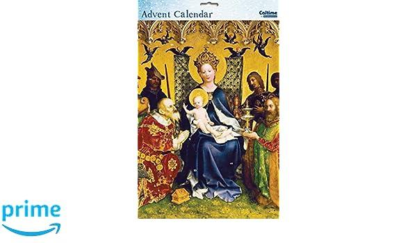 - Adoration Of The Magi From The Caltime Range Christmas Advent Calendar- WDM418631 Glitter Varnish