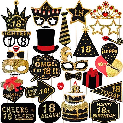 urtstag Photo Booth Props Glitter Geburtstag RequisitenParty Zubehör Für Geburtstag Party Dekoration Favors Supplies ()