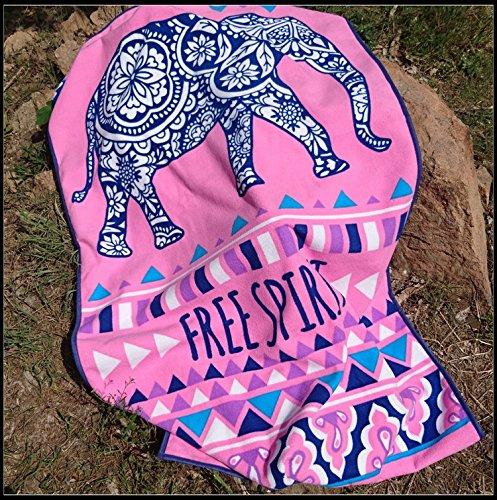 SunJin seca rápida impresa estilo africano absorbente toalla de playa toalla fitness...