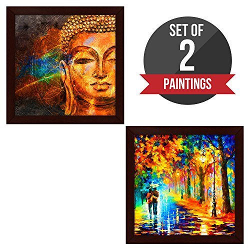 Story@Home Exclusive Matte Textured 2 Pc Combo Wall Art Framed Painting with...