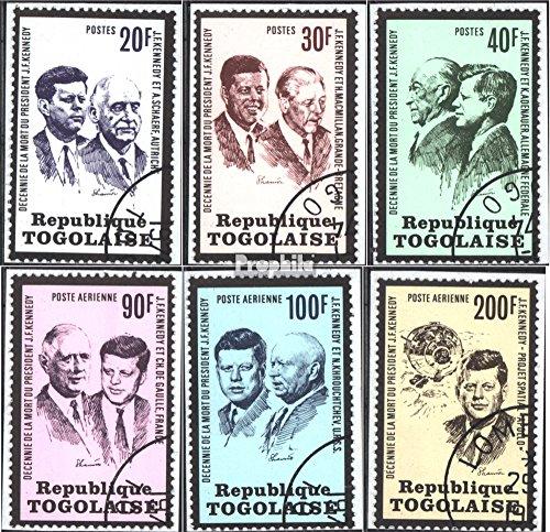 Prophila Collection Togo 1003-1008 (kompl. Ausg.) 1973 Todestag von John F. Kennedy (Briefmarken für Sammler) Prominente / Film / Theater -