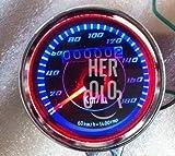 Motorrad Dual LED Kilometerzähler Tachometer 60mm