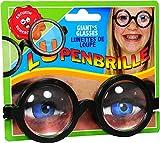 Doofie Brille mit dickem Glas Scherzartikel Fasching Karneval Verkleiden