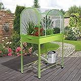 IDMarket - Serre de balcon verte avec housse de protection