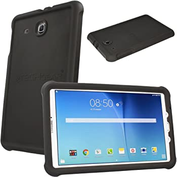 best website 76a64 0882f TECHGEAR Bumper Case fits Samsung Galaxy Tab E 9.6 (SM-T560 Series) Rugged  Light Weight Shock Proof Soft Silicone Protective Easy Grip Case + Screen  ...