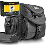 KIT Mantona Premium System Tasche schwarz + PATONA Akku für CANON LP-E10 Für CANON EOS 1100D 1200D