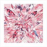 Asia in The Mix - Einzigartiger Kunstdruck mit Asiatischen Blumen Koi Fischen - Fine Art Print - Poster Ohne Rahmen - 50