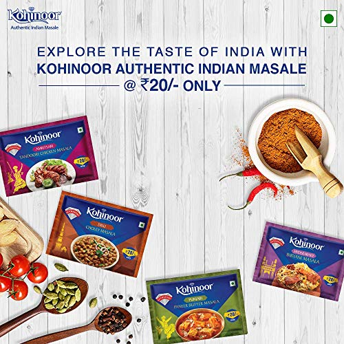 Kohinoor Biryani Masala, 15g with Chicken Masala, 15g, Meat Masala, 15g and Garam Masala, 40g Combo Pack