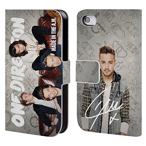 Offizielle One Direction Sofa Harry Made In The A.m. Brieftasche Handyhülle aus Leder für Apple iPhone 5 / 5s / SE Sofa Liam