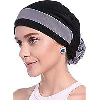WETOO Ladies Flower Turbante musulmán Chemo Cancer Gorra Foulard Copricapo