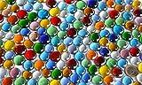500g Glasnuggets transp. 15-21mm bunt Deko Mosaiksteine ca 120St - 3