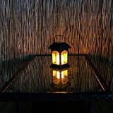 Solar-Laterne und Kerze, LED, Flackereffekt, 15cm (inkl. wiederaufladbarer Batterie) - 6
